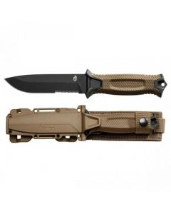 Gerber Strongarm Fixed Serrated Kniv - Coyote