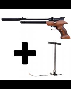 Diana Bandit PCP-Luftpistol inkl. Pumpe - 4,5 mm.