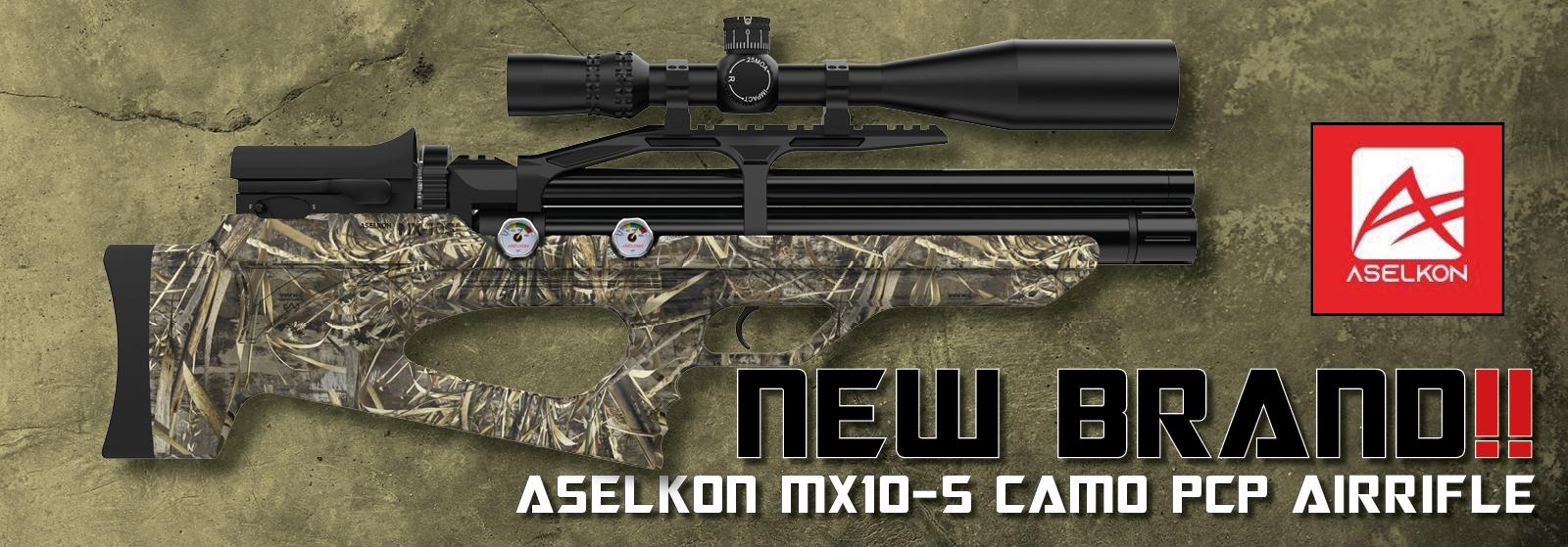 Aselkon MX10-S Camo PCP-luftgevær hos AIRGUN.dk