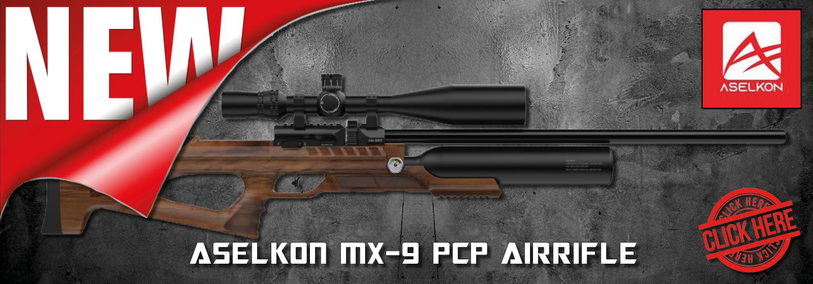 Aselkon MX9 Sniper Wood PCP-luftgevær hos AIRGUN.dk