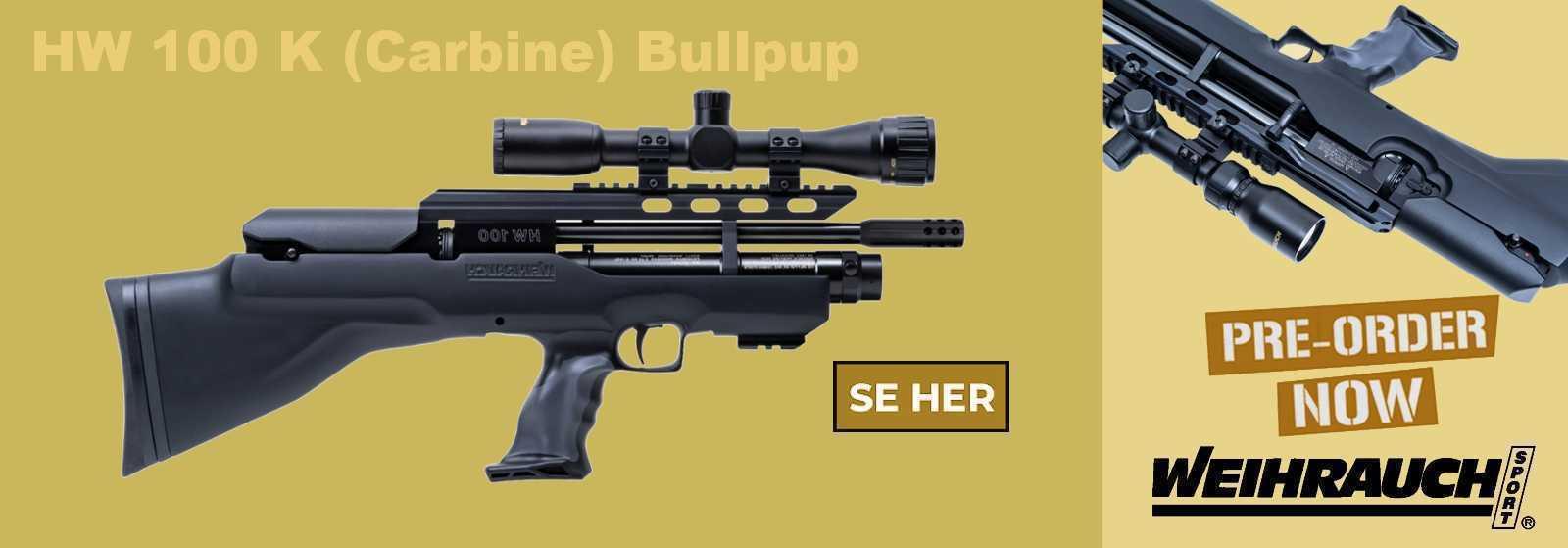 Weihrauch HW 100 K (Carbine) Bullpup PCP Luftgevær