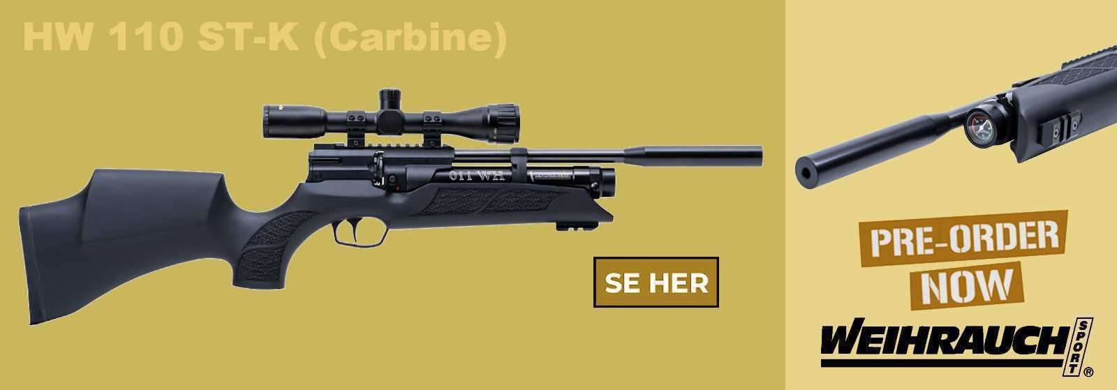 Weihruach HW 110 ST-K (Carbine) PCP Luftgevær - AIRGUN.dk