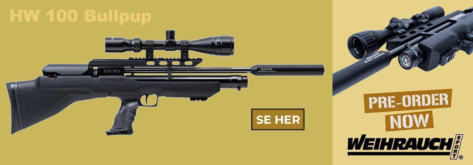 Weihrauch HW 100 Bullpup PCP luftgevær