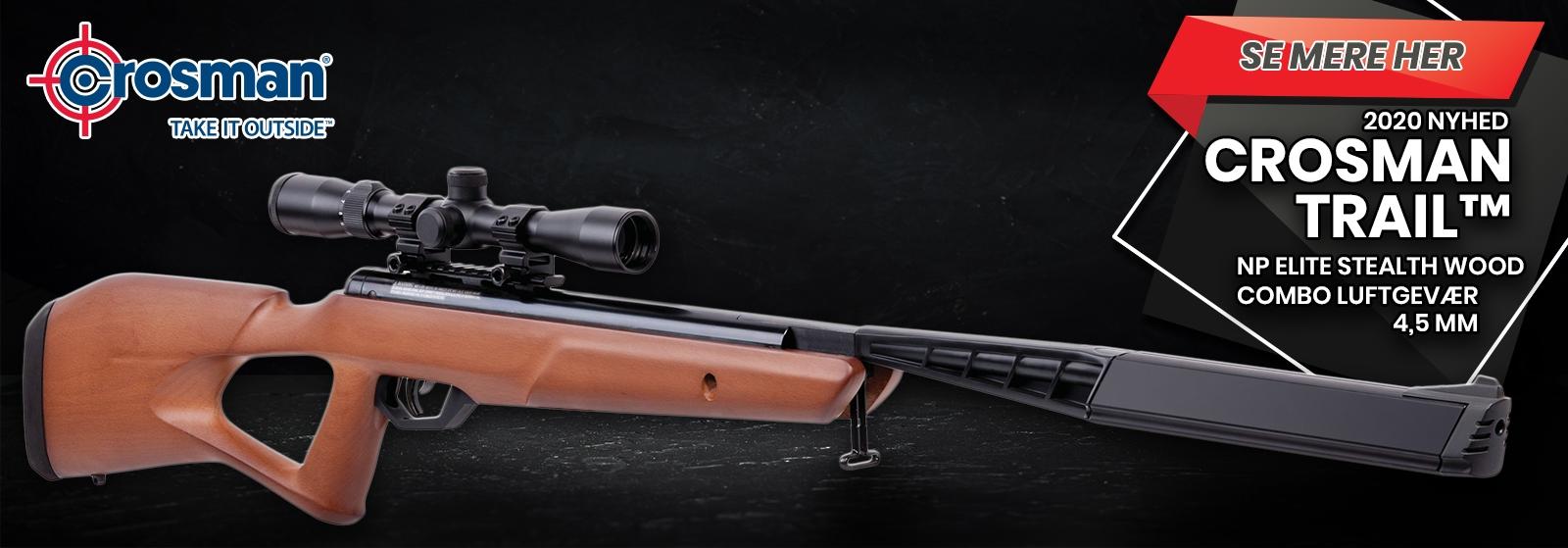 Crosman Trail™ NP Elite Stealth Wood Luftgevær //AIRGUN.dk//